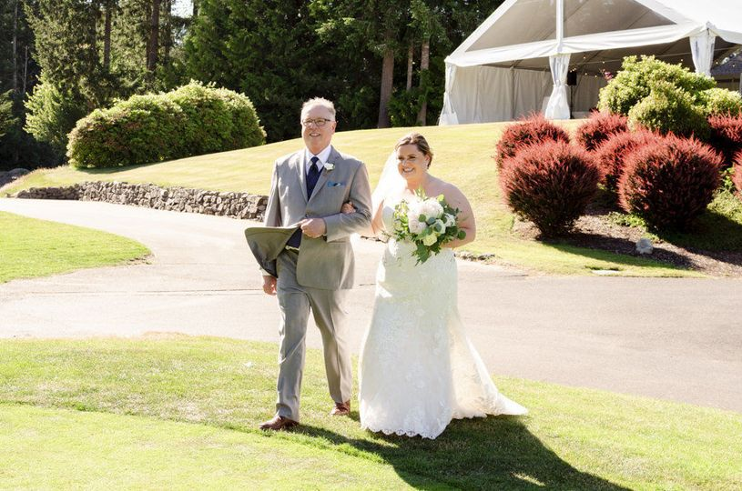 Outdoor Ceremony, Floral by Jen's Floral by Jen's Blossoms, Photo courtesy of Christelle Elbert...