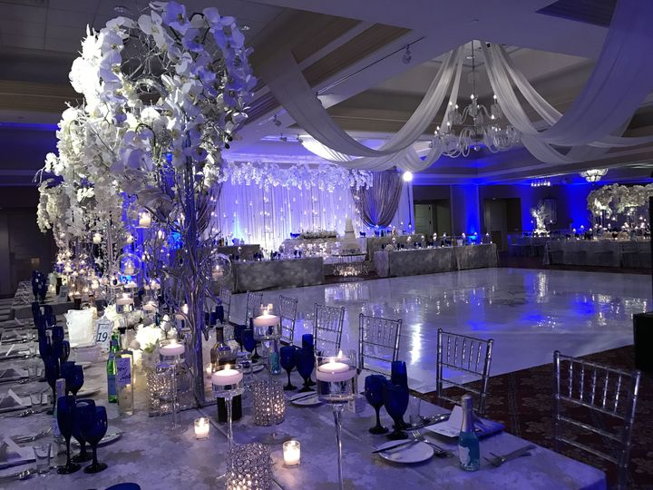 An illuminated dance floor