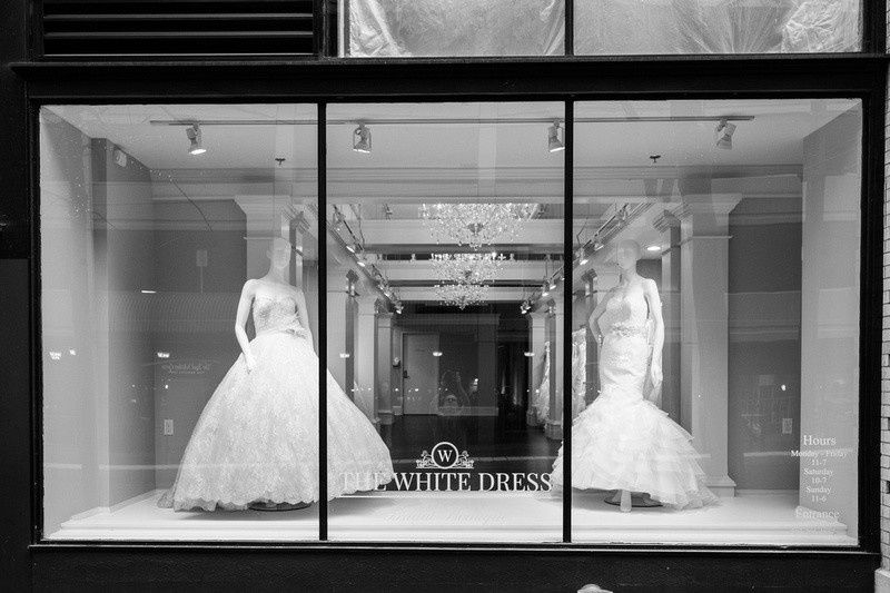 window display black and white