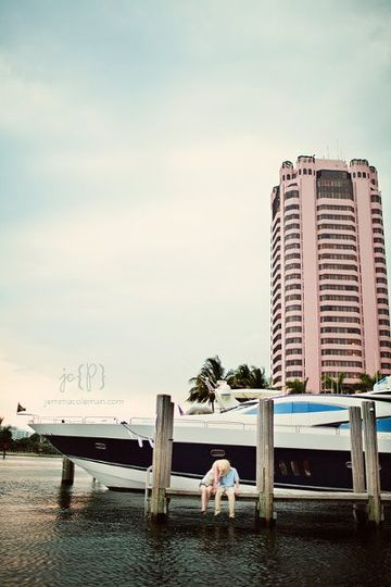 Engagement Photos at Boca Raton Resort & Club by South Florida Wedding Photographer Jemma Coleman...