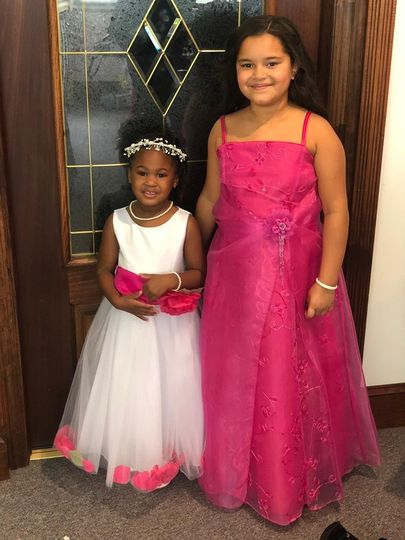 Flower girl and Jr bridesmaid