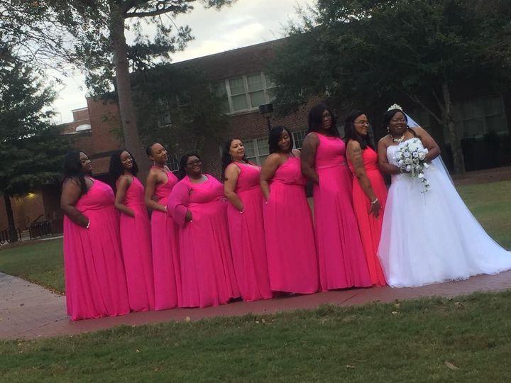 Bridemaids and bride