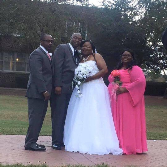 Best man bride groom maid of honor