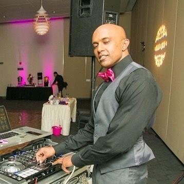 DJ table set up