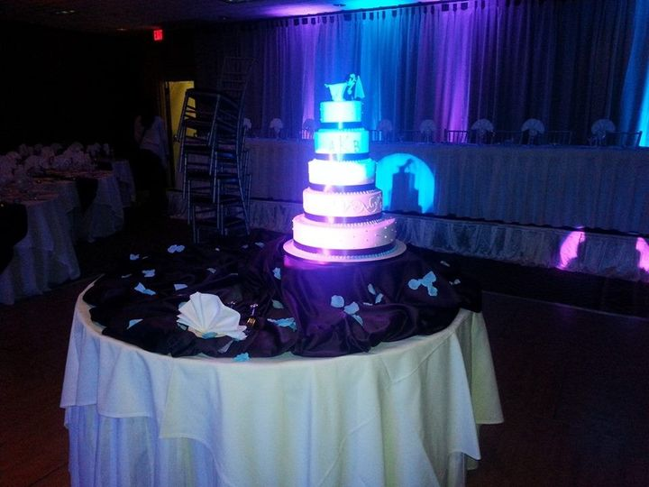 We use our intelligent lighting to highlight special features such as your wedding cake.  It's a...