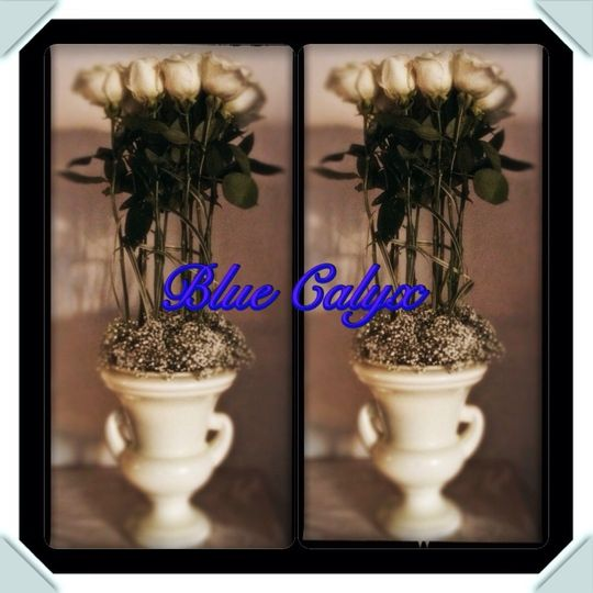 This was made as a sympathy arrangement. But can used for any type of event with a switch of a vase.