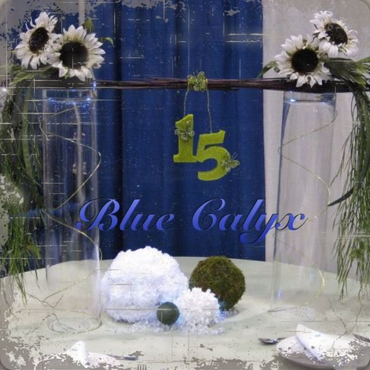 Centerpiece that can easily be modified to a sweet 16, wedding or any other type of event
