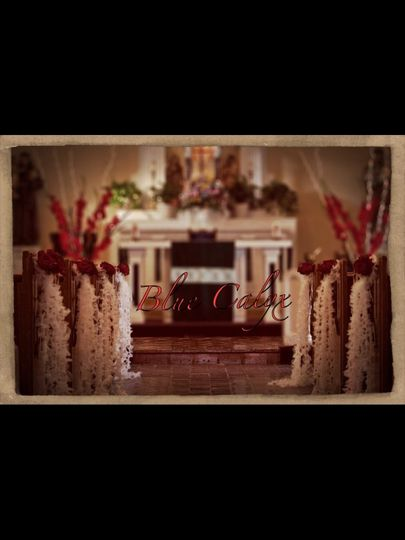These pew decorations were for a 15era.  But they can be for a wedding as well.  Hand sewn tulle...