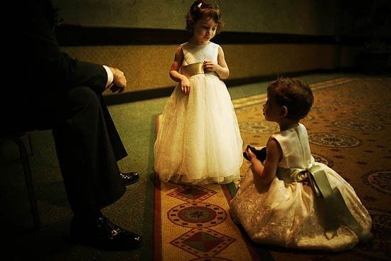 So adorable, these little ones caught in a quiet moment with Dad before the reception in Baltimore,...