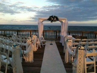 Outdoor wedding arrangement