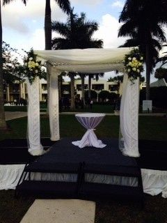 Wedding setup at the lawn