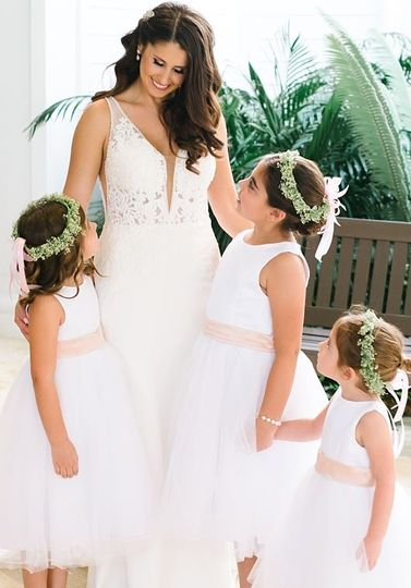 Beautiful bride & flower girls