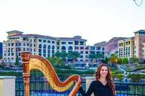 Las Vegas Harpist, Emily Montoya Barnes