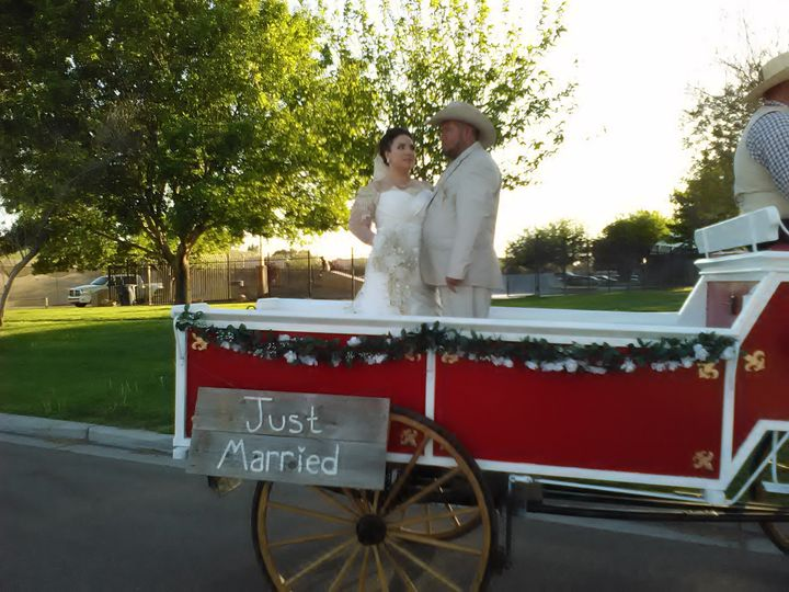 just married closeup