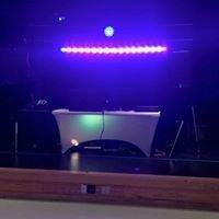 dj set up with lights table cover