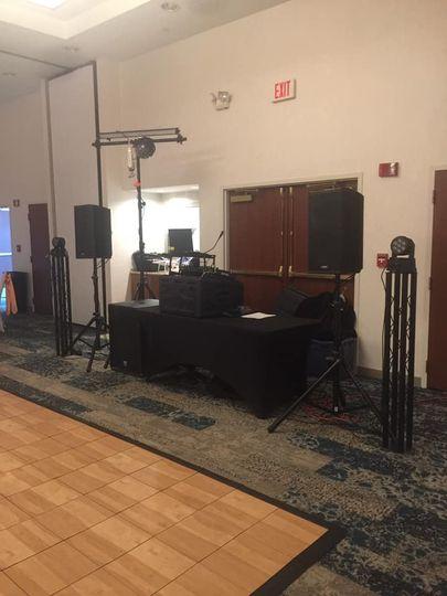 DJ Set up with lights