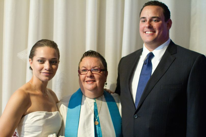 Elegant bilingual summer wedding at Tribeca restaurant.  Reading done by mother from the Bible.