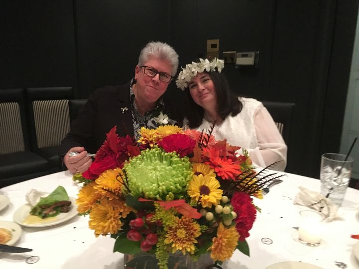"""Unforgettable fall wedding at Morton's Steak House in Long Island with Readings """"Darlin"""" from the..."""
