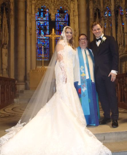 Inspiring spring wedding at The Riverside Church Nave.  Wine Ceremony Ritual was done with plan to...