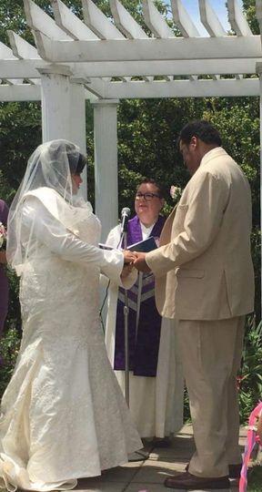 Beautiful summer bilingual wedding at Queens Botanical Wedding Garden. Couple requested wedding...