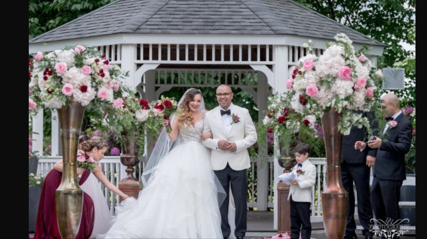 """Elegant spring Wedding at Dyker Beach Golf Course.  Lovely Reading """"Marriage Blessing"""" by James..."""