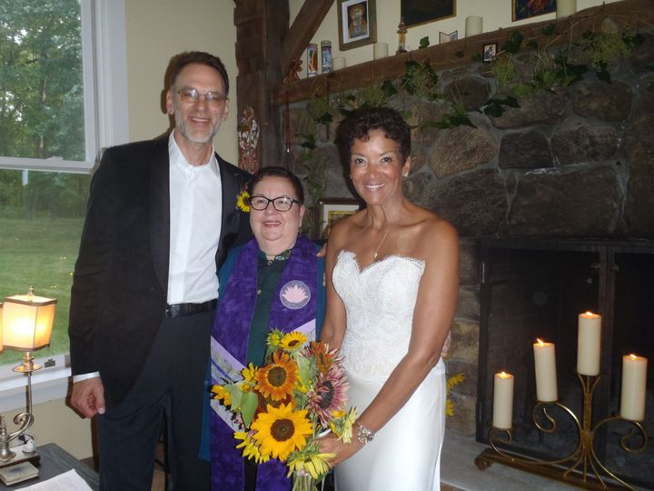 Exquisite summer non-denominational wedding of friend officiated in upstate New York. Personalized...