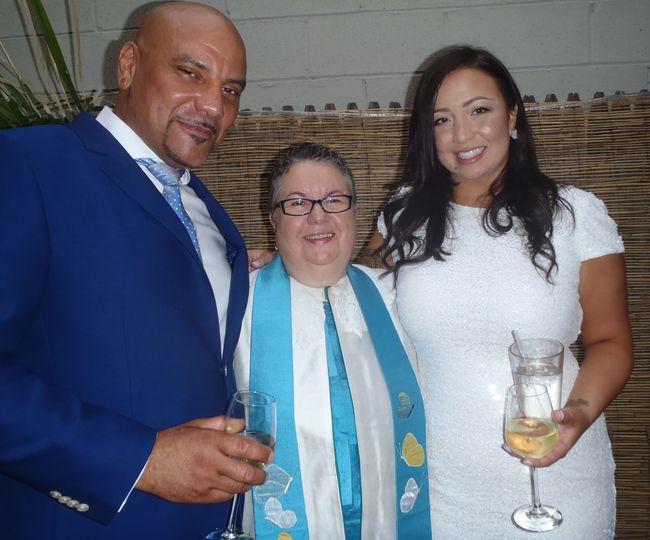 Enchanting fall bilingual wedding at Tribeca Restaurant with reading by brides Mother - Bibilia...