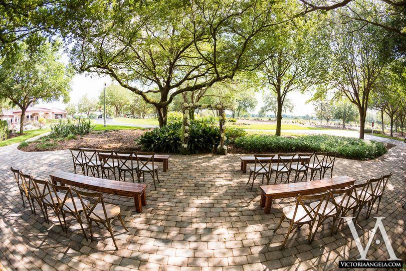 ceremony garden patio