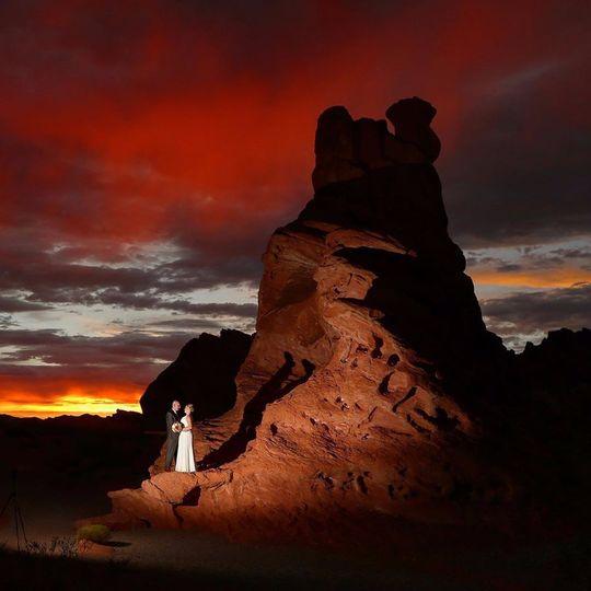 Valley of fire wedding portrait