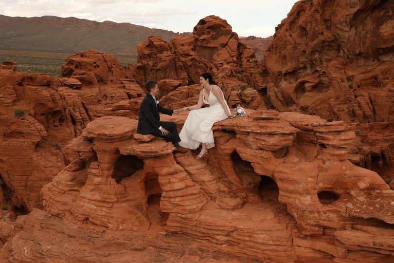 Scenic desert wedding