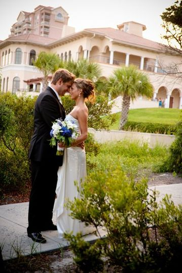 Myrtle Beach wedding, black, ivory and blue wedding