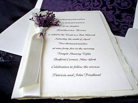 Tmx 1325785238667 PurplrFLoral1 South Dennis wedding invitation