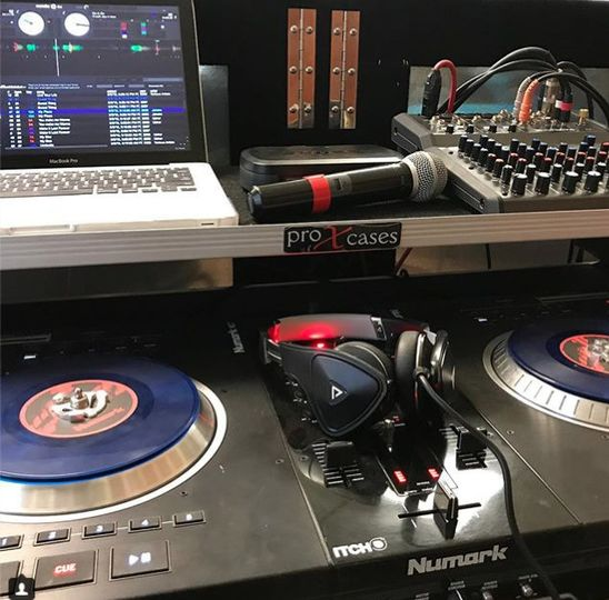 DJ's equipment