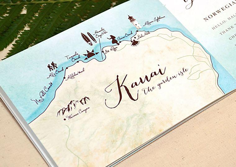 Kauai illustrated map