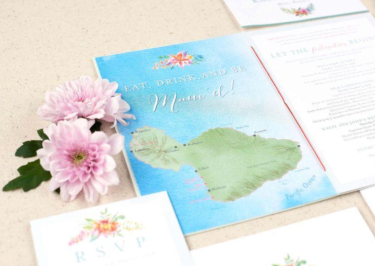 hawaiian wedding invitation maui map 51 405360