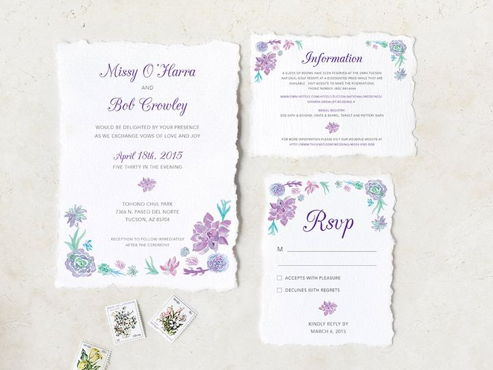 Tmx Arizona Floral Invitation 51 405360 Pittstown, NJ wedding invitation