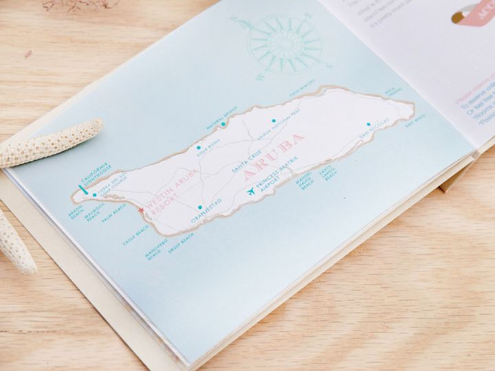 Tmx Aruba Wedding Invitation Booklet Map2 51 405360 Pittstown, NJ wedding invitation