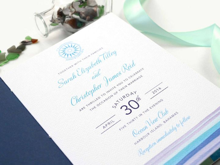 Tmx Bahamas Wedding Invitation Booklet 51 405360 Pittstown, NJ wedding invitation