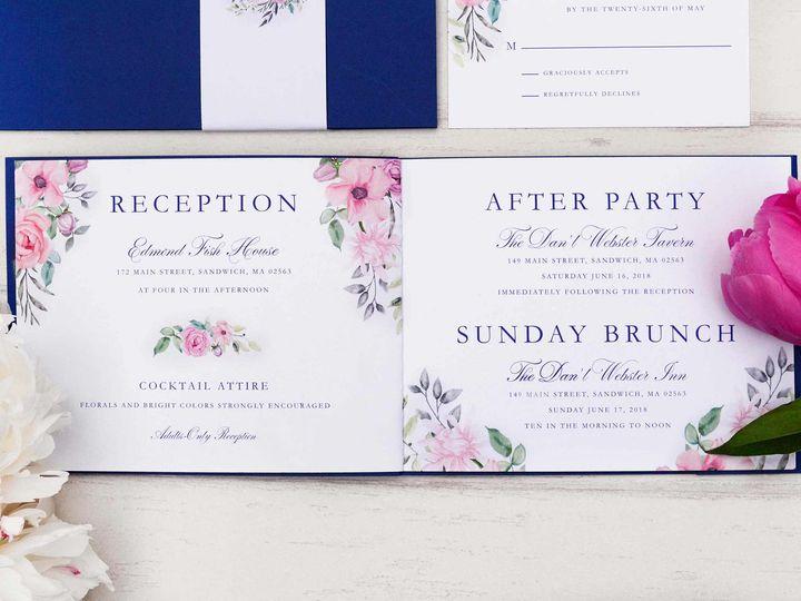 Tmx Capecod Floral Wedding Invitation 51 405360 Pittstown, NJ wedding invitation