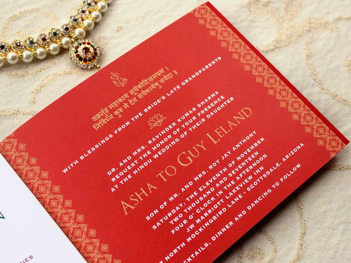 Tmx Custom Indian Wedding Invitation Booklet 51 405360 Pittstown, NJ wedding invitation