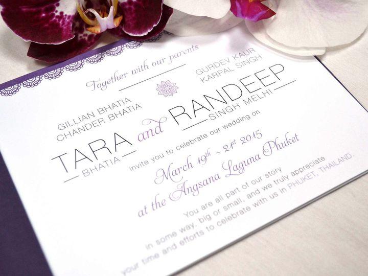 Tmx Destination Wedding Invitation Booklet Thailand 51 405360 Pittstown, NJ wedding invitation