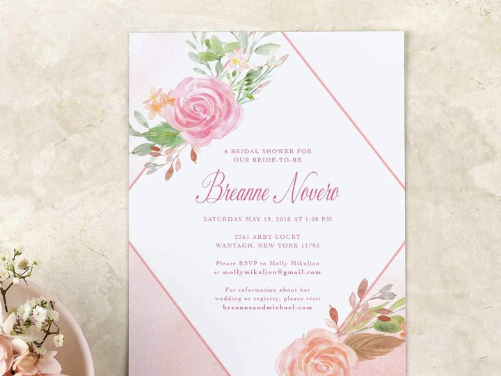 Tmx Floral Whimsical Bridal Shower Invitation 51 405360 Pittstown, NJ wedding invitation