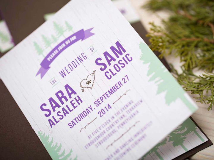 Tmx Forest Invitation Booklet 51 405360 Pittstown, NJ wedding invitation