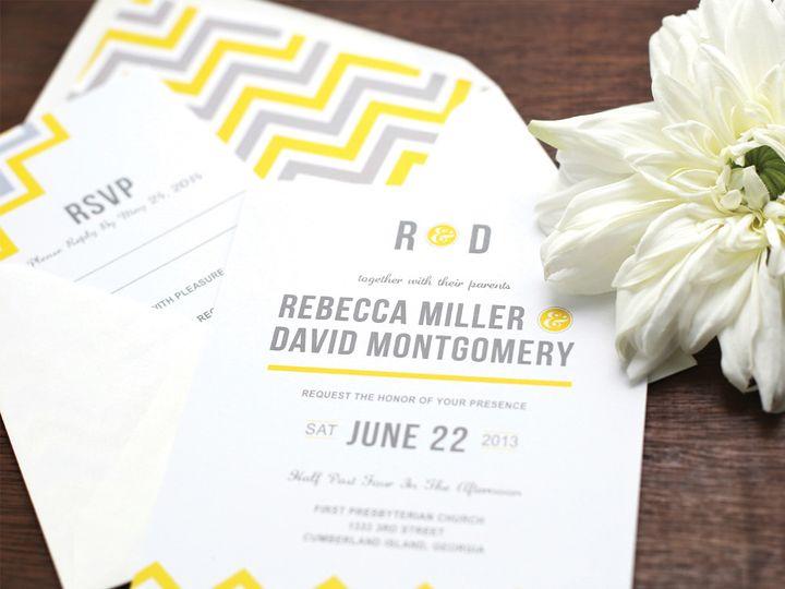 Tmx Gray Yellow Cheveron Wedding Invitation 51 405360 Pittstown, NJ wedding invitation