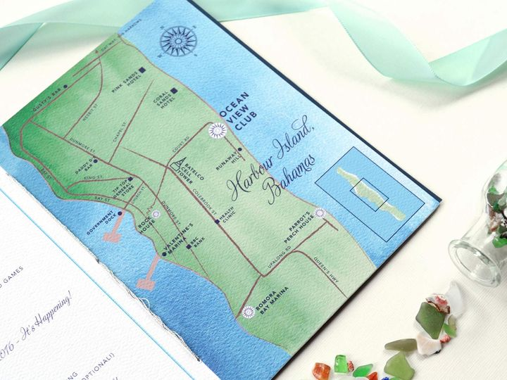 Tmx Harborisland Wedding Invitation Map 51 405360 Pittstown, NJ wedding invitation