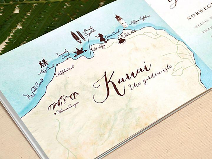 Tmx Hawaiian Wedding Invitation Booklet Map 51 405360 Pittstown, NJ wedding invitation