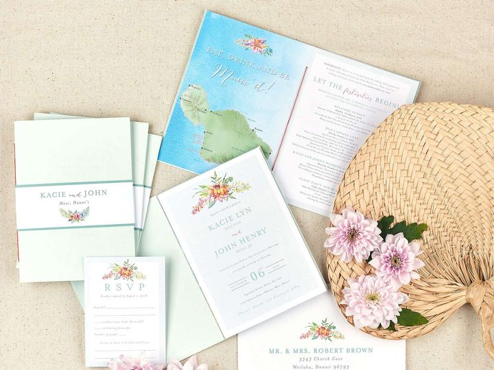 Tmx Hawaiian Wedding Invitation Booklet2 51 405360 Pittstown, NJ wedding invitation