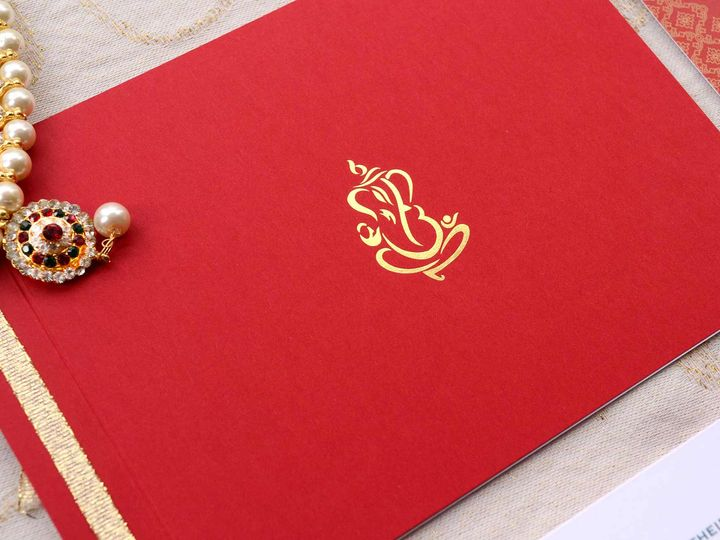 Tmx Hindu Redandgold Weddinginvitation 51 405360 Pittstown, NJ wedding invitation