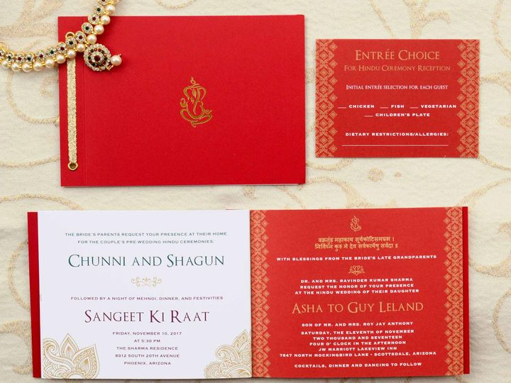 Tmx Indian American Wedding Invitation Booklet 51 405360 Pittstown, NJ wedding invitation