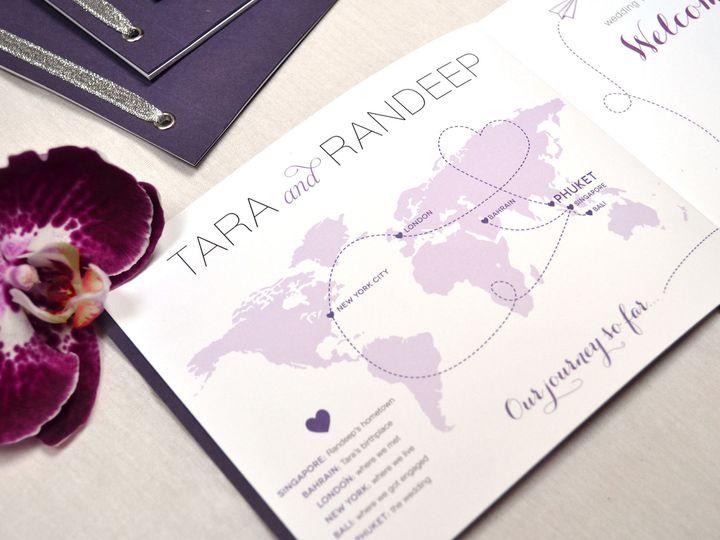 Tmx Indian Wedding Invitation Booklet Style Blackandwhite 51 405360 Pittstown, NJ wedding invitation